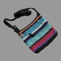 The Sak Originals Woven Multi-Color Striped Purse Cross Body Bag