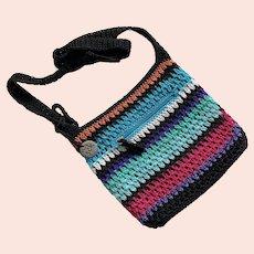 REDUCED The Sak Originals Woven Multi-Color Striped Purse Cross Body Bag