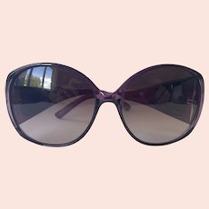 Tod's Translucent Purple Frame Sunglasses Made In Italy