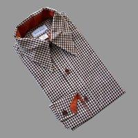 Vintage men's Rob Roy Plaid Shirt Never Worn 1960's
