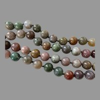 Multi-Color Jasper Beaded Endless Necklace Hand Knotted