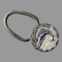 Mexican Plafina Sterling Sailfish Key Ring Chain