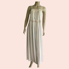 Vintage Diane Von Furstenberg Cream Nylon Nightgown Made In USA