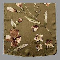 Silk Floral Oblong Scarf