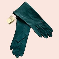 NWT Turquoise Leather Gloves Made In Portugal Size 7
