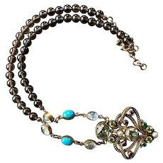 Nicky Butler Bronze Multi Gemstone Necklace