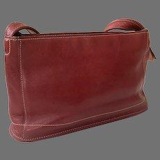 Vintage Red Coach Shoulder Bag / Purse