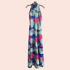 1970's Floral Patio Hostess Dress