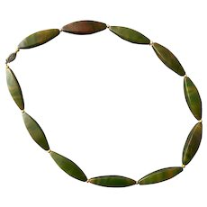Green End Of Day Bakelite Beaded Necklace