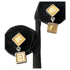 Victoria Varga Sterling Yellow Resin Pierced Earrings