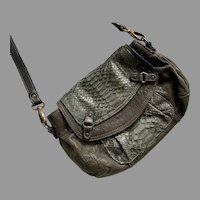 Abaco Leather Shoulder Bag Purse Made In France