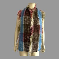 Colorful Multi-Fiber Winter Scarf Made In Italy