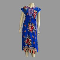 Rayon Bright Colorful Mixed Patterns Dress
