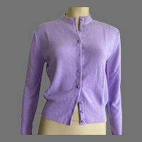 Vintage Lavender Orlon Cardigan Sweater Never Worn