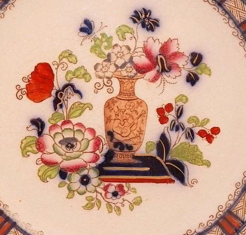 Wedgwood Antique Plate With Dark Blue Paint