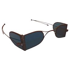 Georgian Spectacles Eyeglasses With Turnpin Sidebars and Double Tinted Lenses
