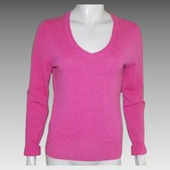 Vintage Peck and Peck Salmon Pink Cashmere Sweater