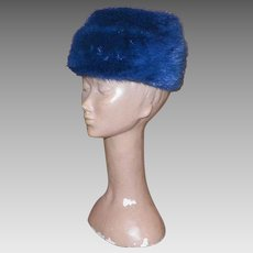 Vintage Blue Mink Hat By Miss Alice