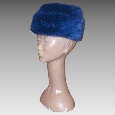 Vintage Blue Mink Hat By Miss Alice