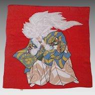 Vintage Japanese Silk Fukusa Textile Kabuki Actor