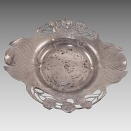 Art Nouveau German Orivit Pewter Bowl