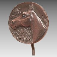 Vintage Brass Horse Head Stickpin