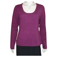 Peck and Peck Burgundy Cashmere Sweater Size XL