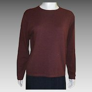 Vintage Brown Cashmere Sweater Size L Saks Fifth Avenue