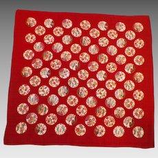 Vintage Japanese Silk Fukusa Textile Flora and Fauna