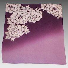 Vintage Japanese Silk Fukusa Textile Ombre Purple and Cream