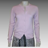 TSE Baby Pink Cashmere Cardigan Sweater