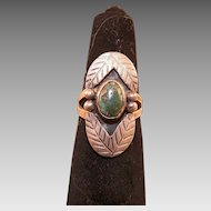 Vintage Native American Silver and Turquoise Ring