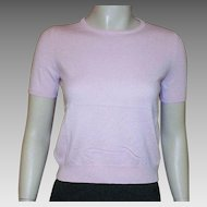 TSE Baby Pink Cashmere Short Sleeve Sweater