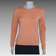 Vintage Tangerine 100% Cashmere Sweater Saks Fifth Avenue