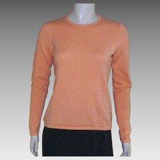 Vintage Tangerine 100% Cashmere Sweater Saks Fifth Avenue