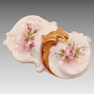 Antique Limoges Tressemann Vogt Hand Painted Paperweight Artist Signed