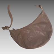 Vintage Anne Klein For Calderon Taupe Leather Shoulder Bag Purse