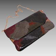 Carlo Fiori Of Italy Embossed Leather and Snakeskin Purse