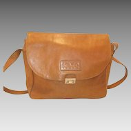 Vintage Kenzo Paris Leather Shoulder Bag Purse