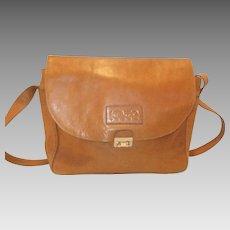 Vintage Kenzo Paris Leather Shoulder Bag Purse