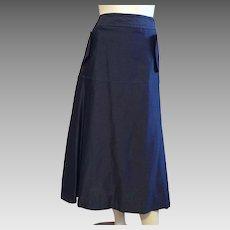 Yves Saint Laurent Black Cotton and Silk Skirt Size 12 NWT