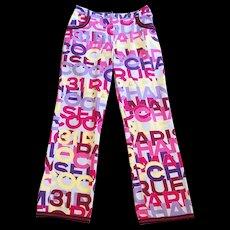 Vintage Chanel Logo Pants Size 42/8 - Red Tag Sale Item