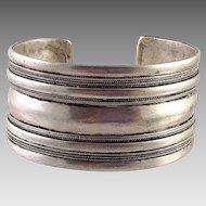 Vintage Tribal Ethnic Silver Cuff Bracelet