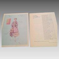 Stratford Festival Souvenir Costume Design Prints 1962