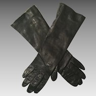 Italian Black Kid Leather Gloves