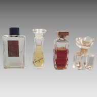 Lot Of Four Mini Perfume Bottles