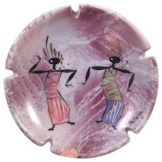Mid Century Marc Bellaire Balinese Dancers Ashtray