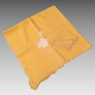Vintage Yellow Bridge Cloth & Napkins
