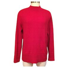 Men's Red Cashmere Pullover Sweater XL