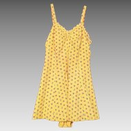 1940's 50's Bathing / Swim Suit Yellow Floral Print